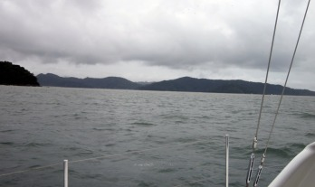 Approaching Teluk Usukan