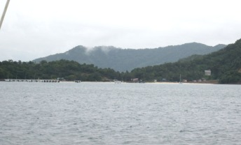 Northern anchorage in Teluk Usukan