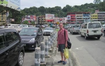 The endless task of provisioning - this time in downtown Kota Kinabalu