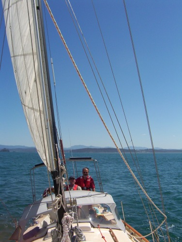 Skipper Hugh (left) and crewman Duncan in an untroubled moment