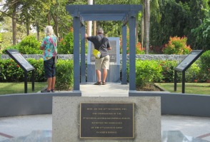 The memorial at Surrender Point marked an important point in history.