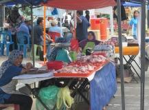 A street market in Labuan