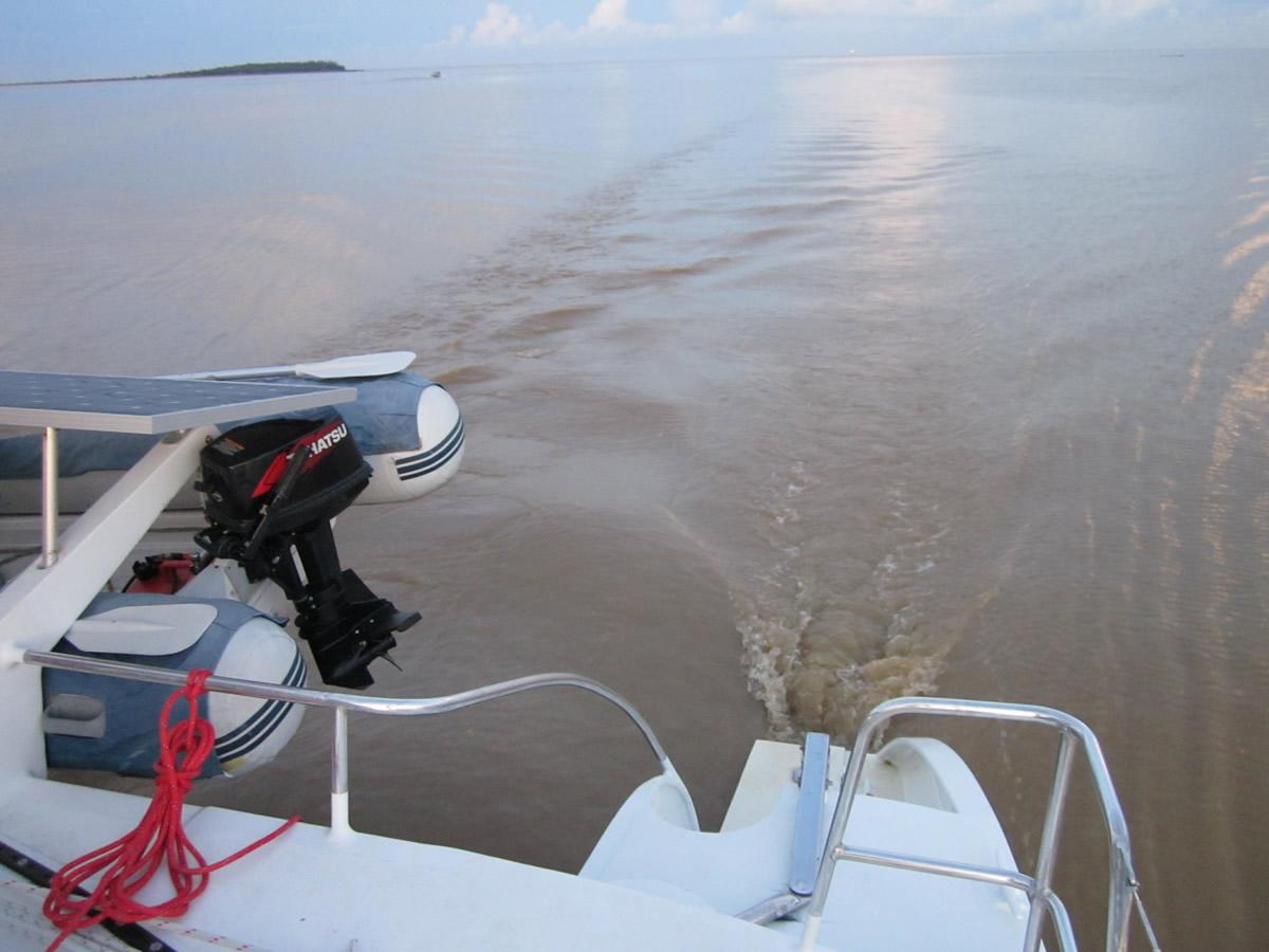 Still waters run fast - the Baram River in full ebb flow