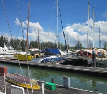After the derelict facilities at Labuan, the busy and active marina at Miri was a welcome change