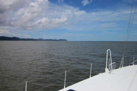 Entering the Sarawak River