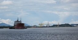 Plenty of ship activity on the Sarawak River