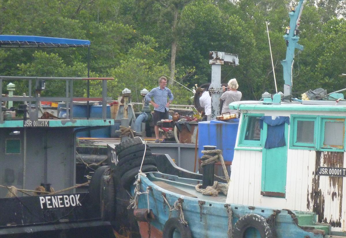 Santi River fuel barge