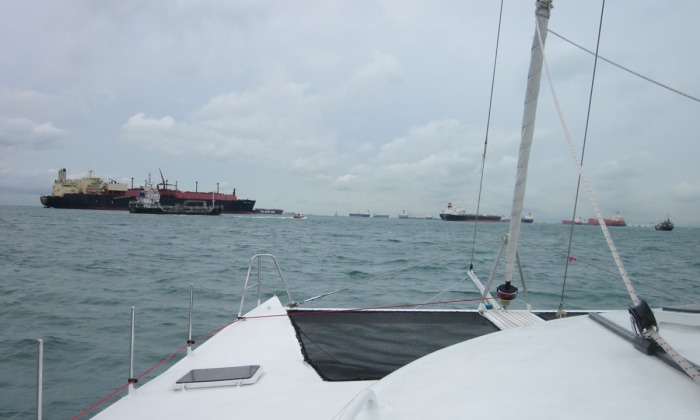 A not-so-quiet day in the Malacca Straits