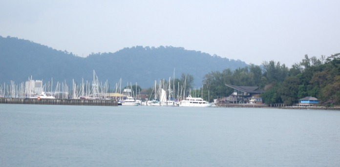 Langakwi marina - but no room at the inn!