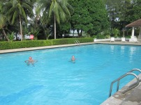 A dip in the pool at Lumut