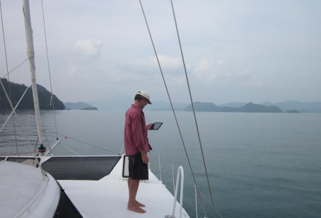 Duncan eyes off the local fleet at Port Dickson