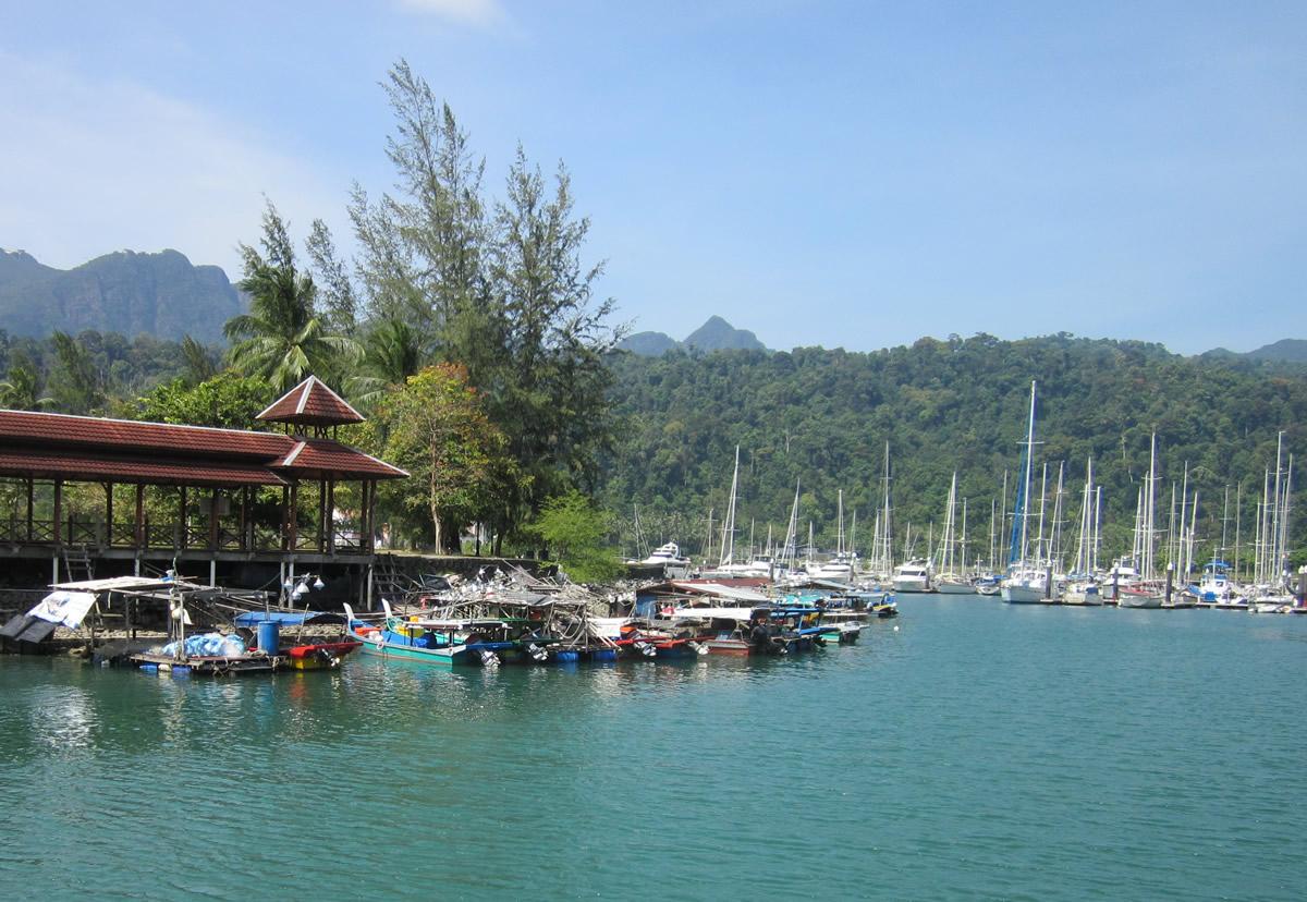 The picturesque marina at Telaga