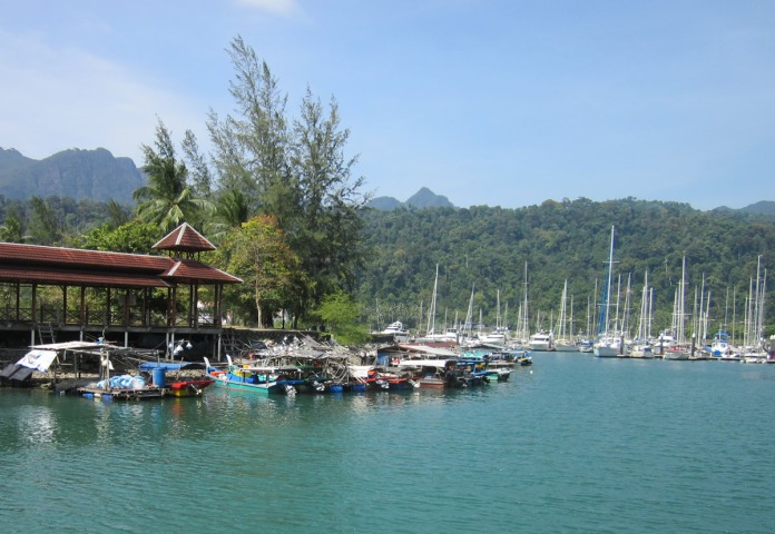 The picturesque marina at Telaga